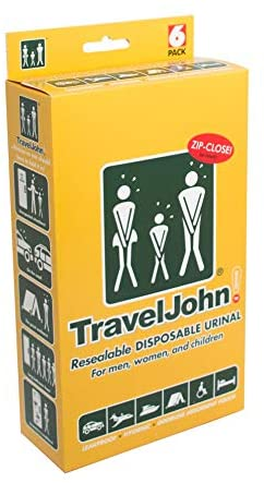 Travel John Resealable Disposable Urinal Bags (TJ1N) – 6 Pack