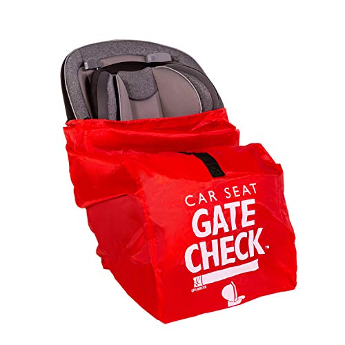 J.L. Childress Gate Check Bag for Car Seats – Air Travel Bag – Fits Convertible Car Seats, Infant carriers & Booster Seats, Red