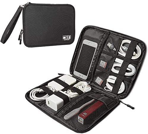 Electronic Organizers Travel Cable Storage, Electronics Accessories Cases for Cable, Charger, Phone, USB, SD Card