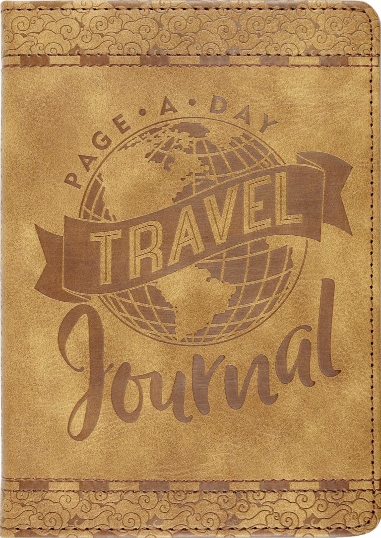 Page-A-Day Artisan Travel Journal (Diary, Vegan Leather Notebook)